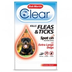 Flea Clear Spot On Flea & Tick Drops Extra Large Dogs 3 Tubes