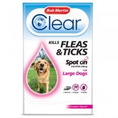 Flea Clear Spot On Flea & Tick Drops For Large Dogs 3 Tubes