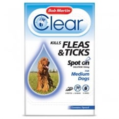 Flea Clear Spot On Flea & Tick Drops For Medium Dogs 3 Tubes