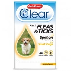 Flea Clear Spot On Flea & Tick Drops for Small Dogs 3 Tubes