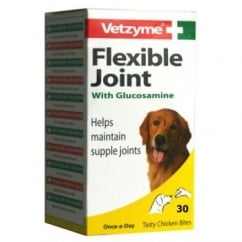 Vetzyme Flexible Joint With Glucosamine For Dogs 30 Tablets