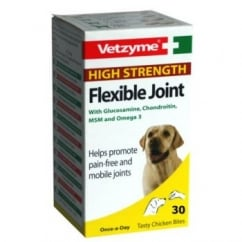 Vetzyme High Strength Flexible Joint With Glucosamine For Dogs 30 Tablets