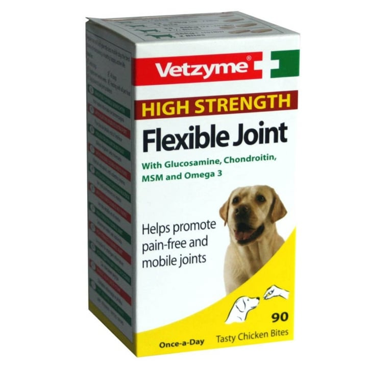 Bob Martin Vetzyme High Strength Flexible Joint With Glucosamine For Dogs 90 Tablets