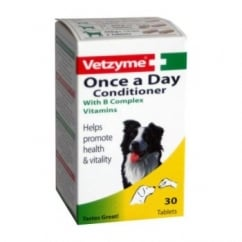 Vetzyme Once A Day Conditioner Dog Tablets 30 Pack