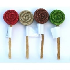 Munchy Lollipop On Rawhide Chew Stick - Pack 10
