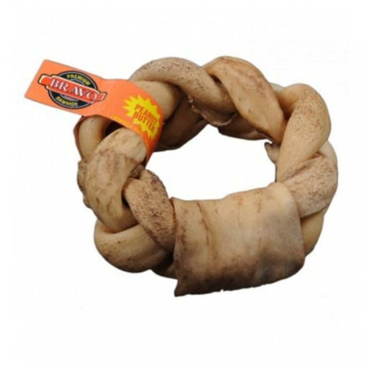 Bravo Peanut Butter Braided Donut Dog Treat 5