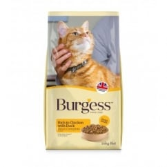 Burgess Adult Cat Food Rich in Chicken with Duck 10kg
