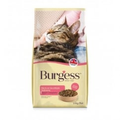 Burgess Adult Cat Rich In Scottish Salmon Food 10kg