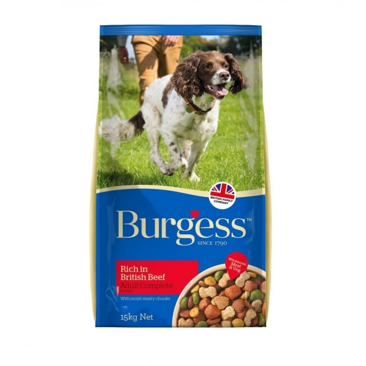 Burgess Adult Complete Dog Food Rich in British Beef 15kg