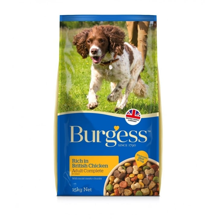 Burgess Adult Complete Dog Food Rich In British Chicken 15kg