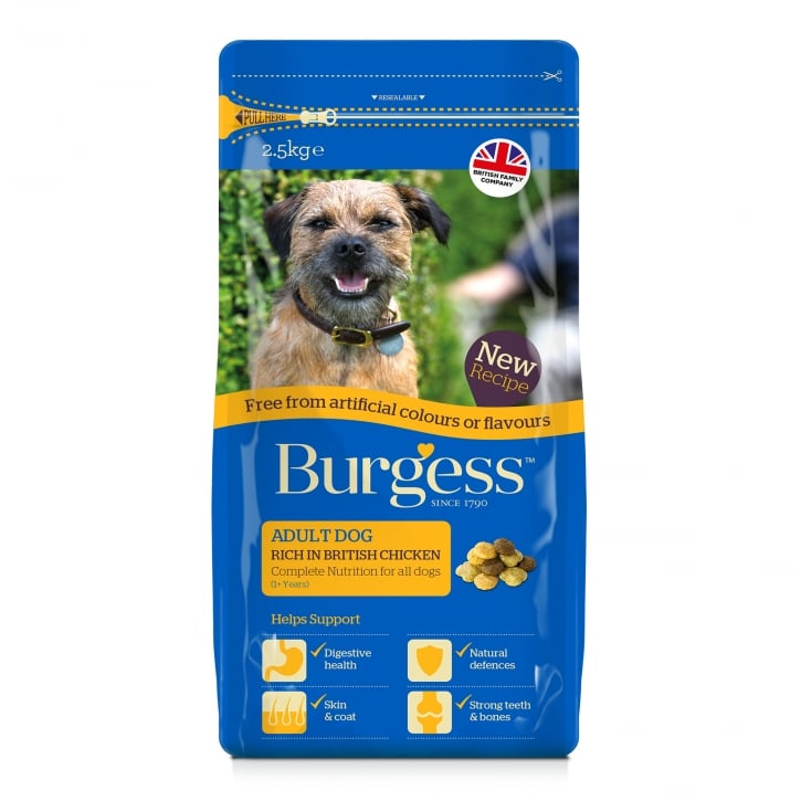 Burgess Adult Dog Food Chicken Free From 2.5kg