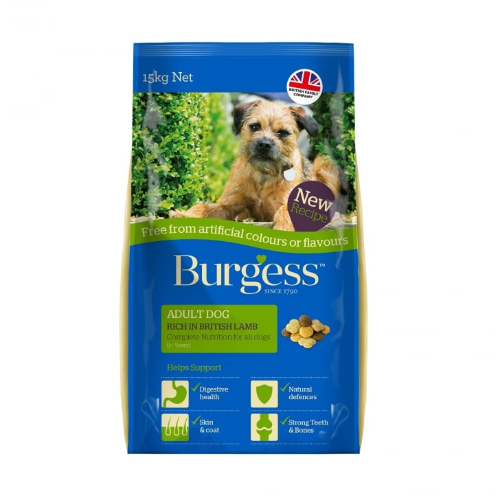 Burgess Adult Dog Food Lamb Free From 15kg