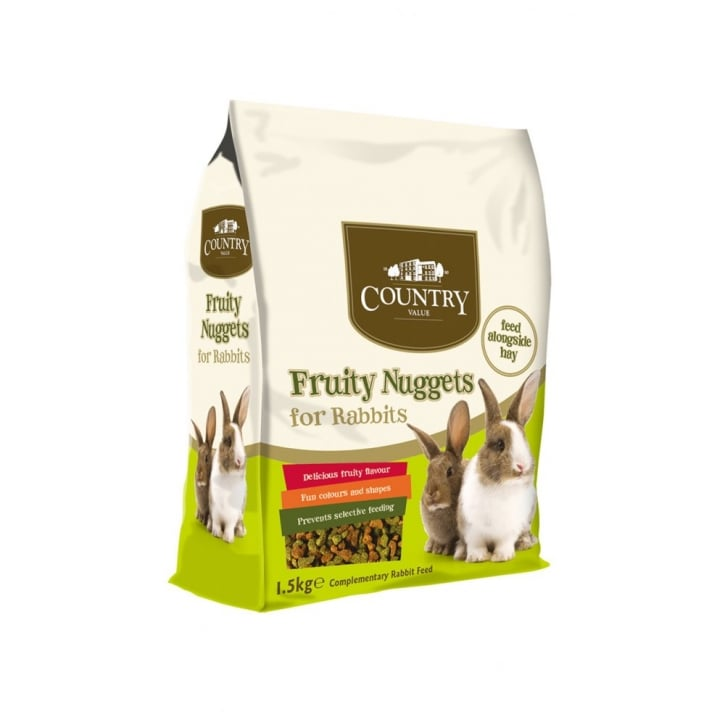 Burgess Country Value Fruity Rabbit Nuggets 1.5kg