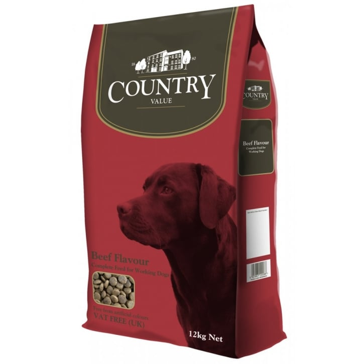 Burgess Country Value Working Dog Food with Beef 12kg