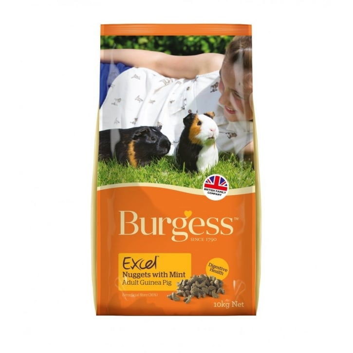 Burgess Excel Complete Guinea Pig Nuggets With Mint 10kg