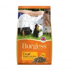 Burgess Excel Nuggets With Mint Adult Guinea Pig Food 1kg