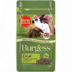 Burgess Excel Nuggets with Mint Adult Rabbit Food 1kg