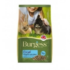 Burgess Excel Rabbit Junior & Dwarf Rabbit Nuggets with Mint 2kg