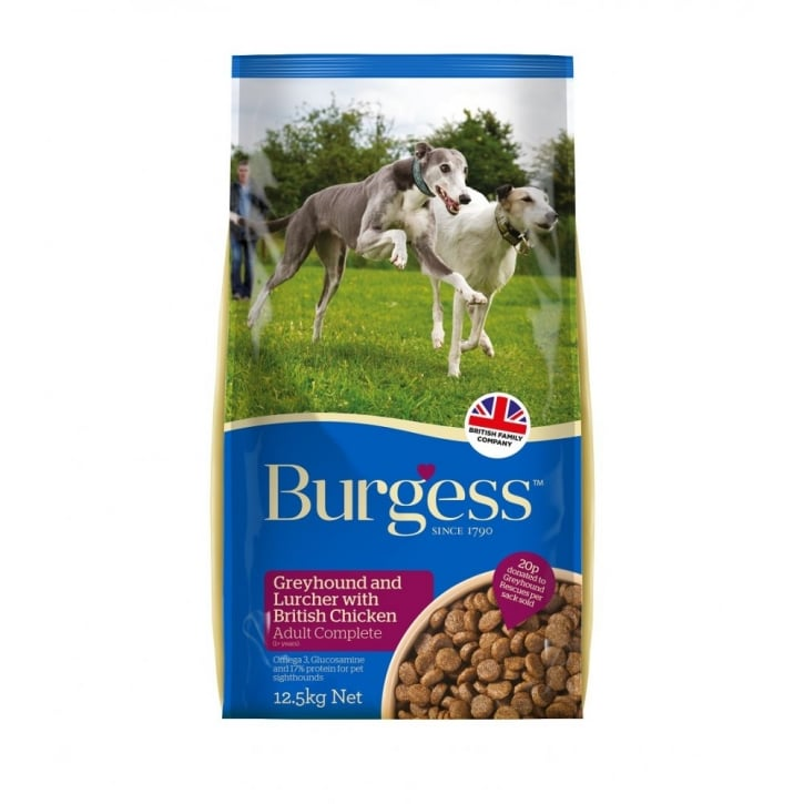 Burgess Greyhound & Lurcher Complete Dog Food With British Chicken 12.5kg