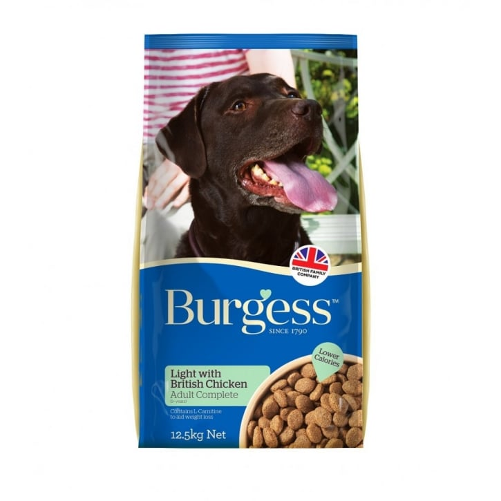 Burgess Light Adult Dog Food With British Chicken 12.5kg