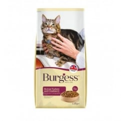 Burgess Mature Cat Food Rich In Turkey And Cranberry 1.4kg