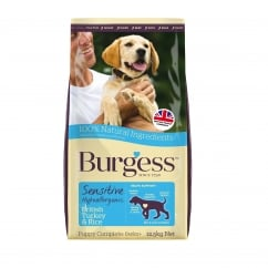 Burgess Sensitive Puppy Food With British Turkey & Rice 12.5kg