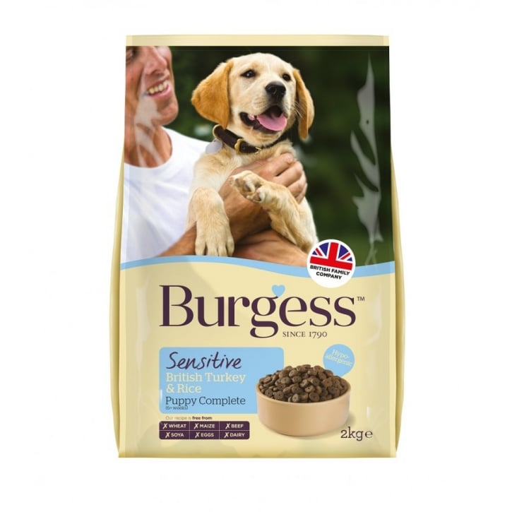 Burgess Sensitive Puppy Food With British Turkey & Rice 2kg