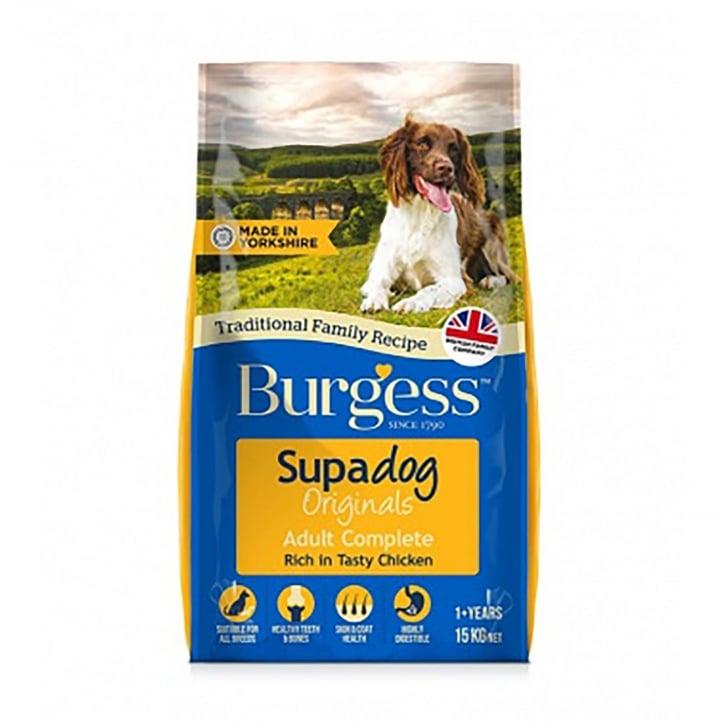Burgess Supadog Originals Adult Dog Food Rich In Chicken 15kg Feedem