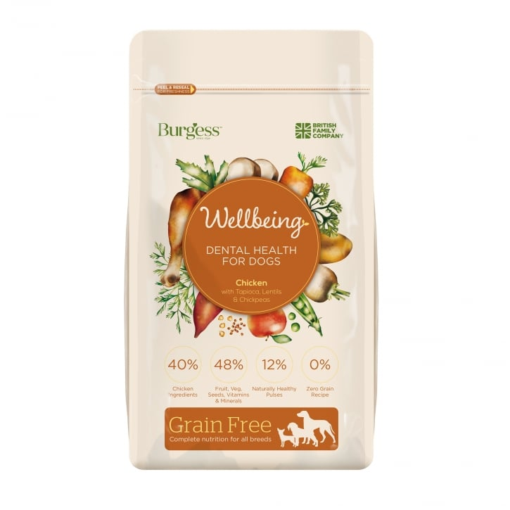 Burgess Wellbeing Dental Health With Chicken Adult Dog Food 1.5kg