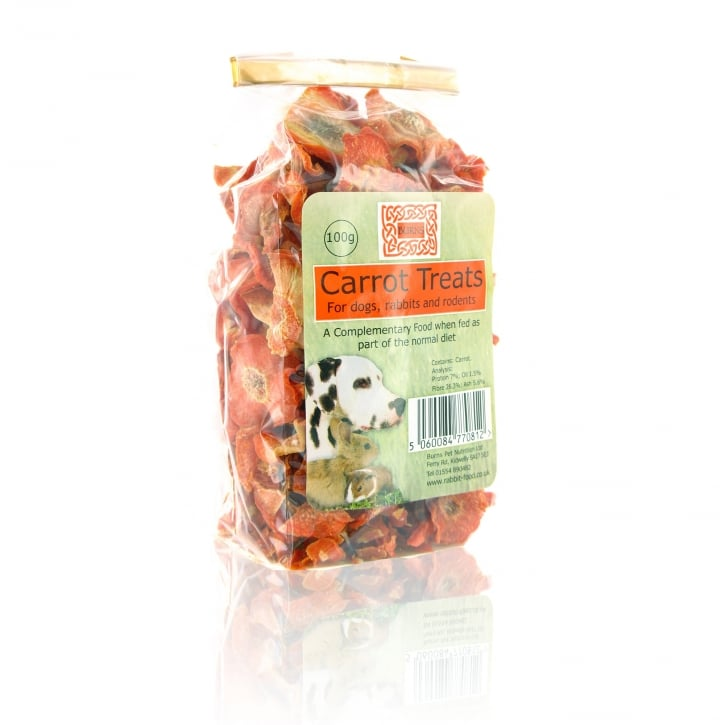 Burns Carrot Treats For Dogs and Small Animals 100g