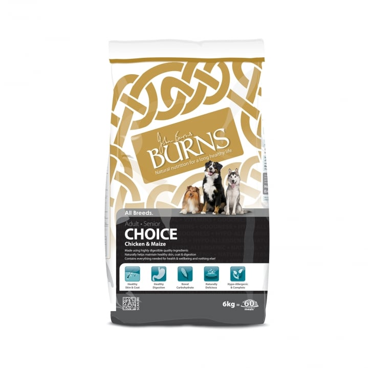 Burns Choice Chicken & Maize Adult & Senior Dog Food 6kg