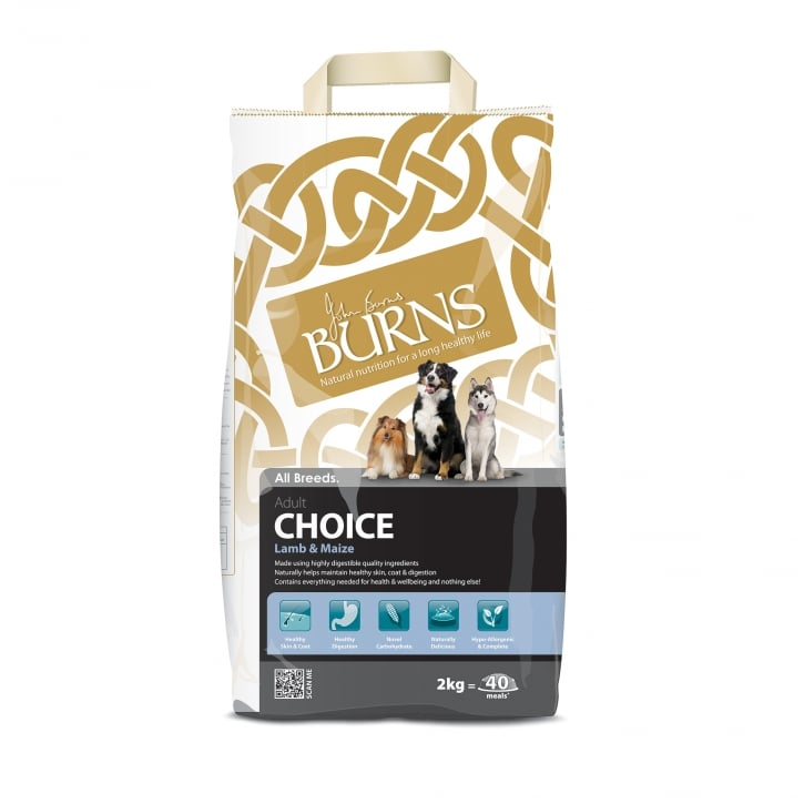 Burns Choice Lamb & Maize Adult Dog Food 2kg