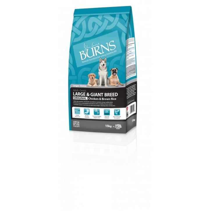 Burns Large Breed Adult Dog Food With Chicken & Brown Rice 15kg