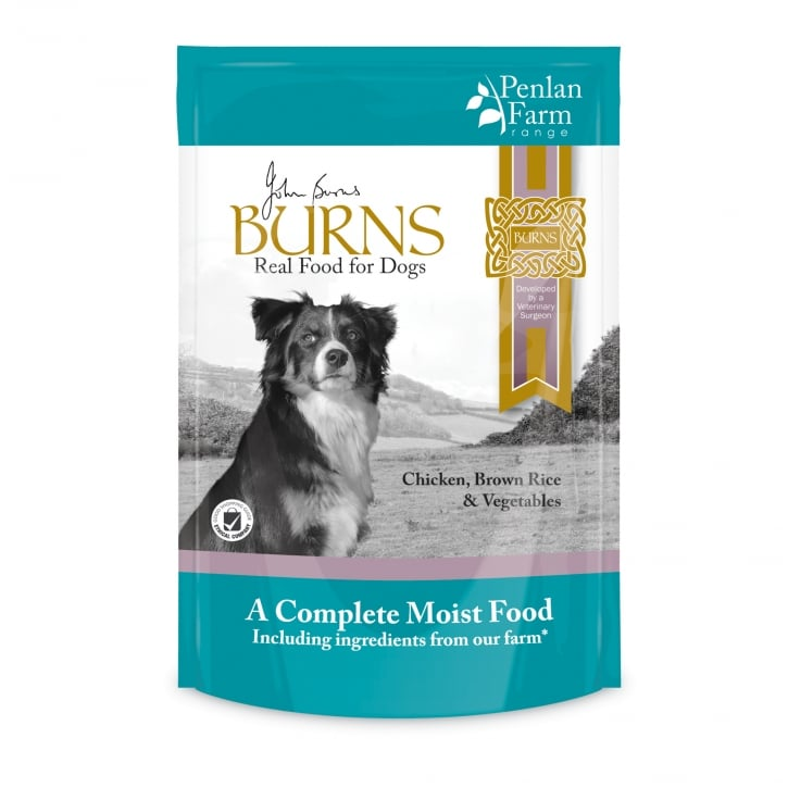 Burns Penlan Farm Chicken, Brown Rice & Vegetables Wet Dog Food 6 x 400g