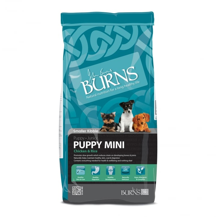 Burns Puppy Mini Chicken & Rice Puppy & Junior Dog Food 12kg