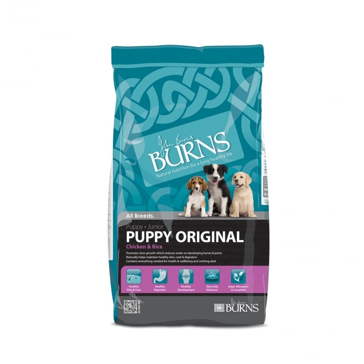 Burns Puppy Original Chicken & Rice Puppy & Junior Dog Food 6kg