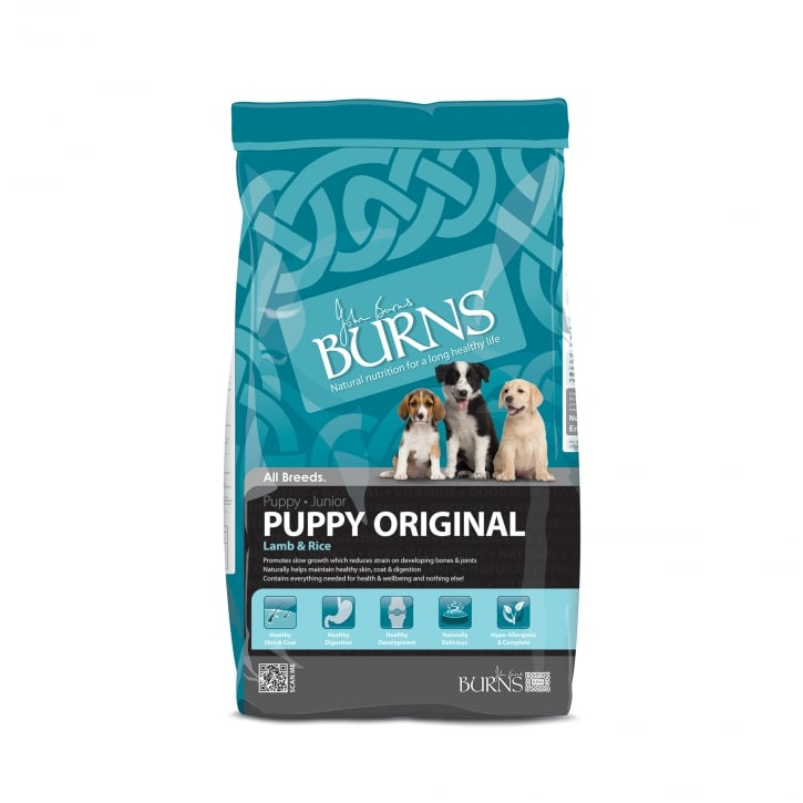 Burns Puppy Original Lamb & Rice Puppy & Junior Dog Food 6kg