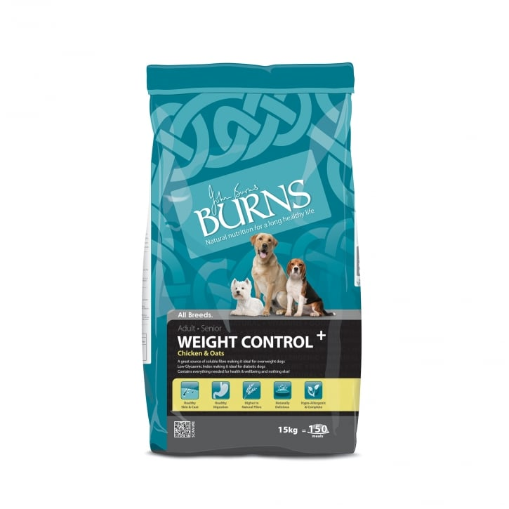 Burns Weight Control Chicken & Oats Adult & Senior Dog Food 15kg