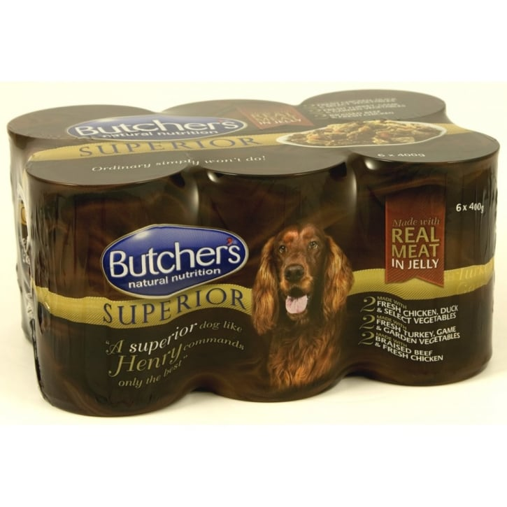 Butchers Superior Variety Real Meat Dog Food Cans Cij 6x400gm