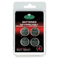 Batteries for Flashing Safety Leads & Collars Pack 4
