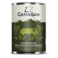 Chicken & Wild Boar Casserole Grain Free Wet Adult Dog Food 400g