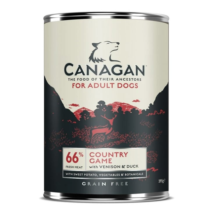 Canagan Country Game Grain Free Wet Adult Dog Food 395g
