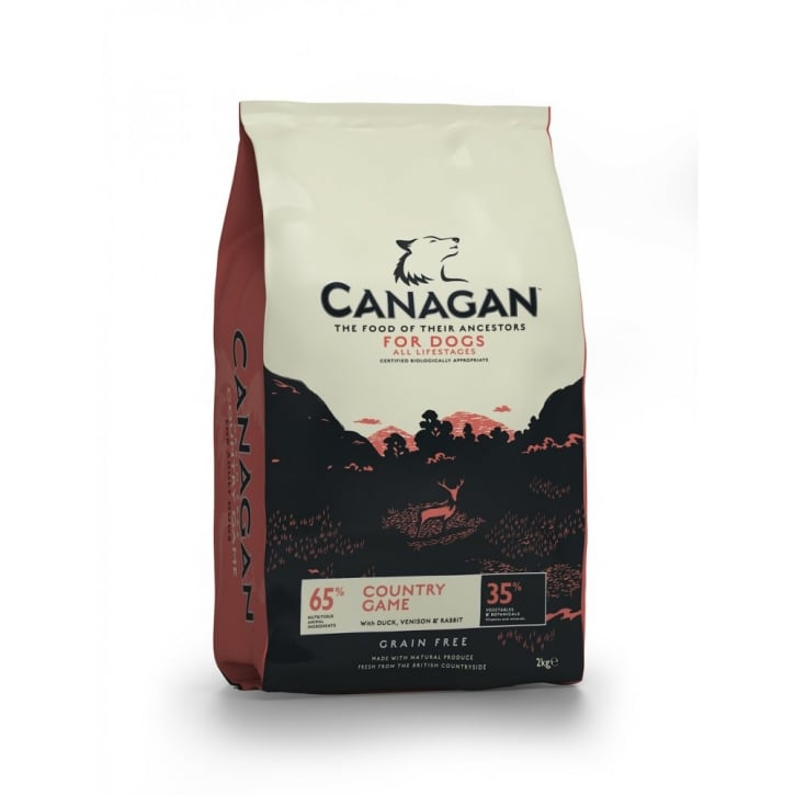 Canagan Country Game with Duck, Venison & Rabbit Adult Dog Food 2kg