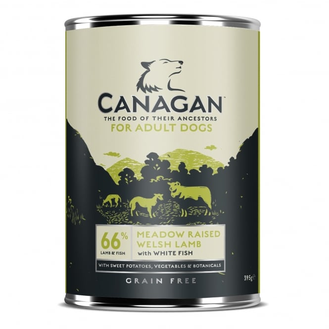 Canagan Meadow Raised Welsh Lamb With White Fish Grain Free Wet Adult Dog Food 395g