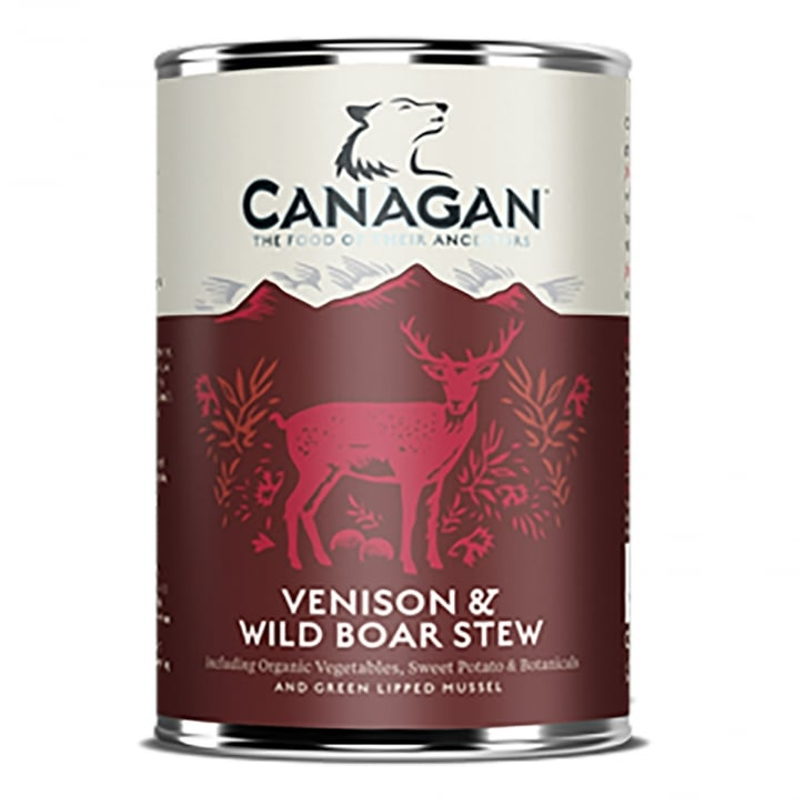 Canagan Venison & Wild Boar Stew Grain Free Wet Adult Dog Food 400g