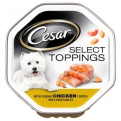 Cesar Select Toppings with Tender Chicken Topped with Vegetables 14x150gm