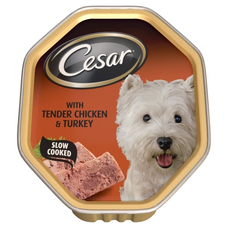 Cesar Tray with Tender Chicken and Turkey 14x150gm pack