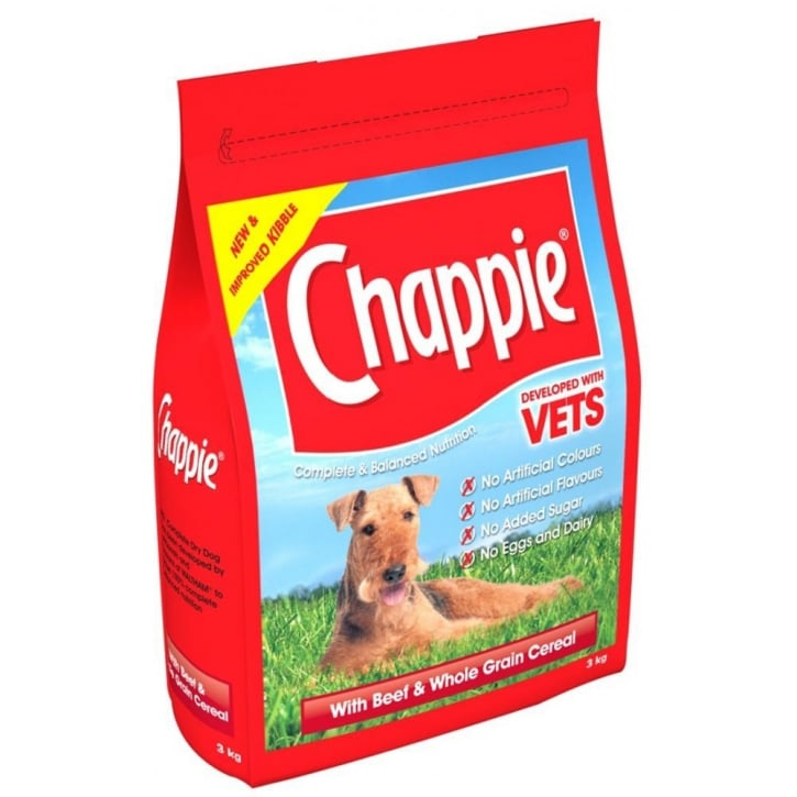 Chappie Adult Beef & Whole Grain Cereal Dog Food 3kg