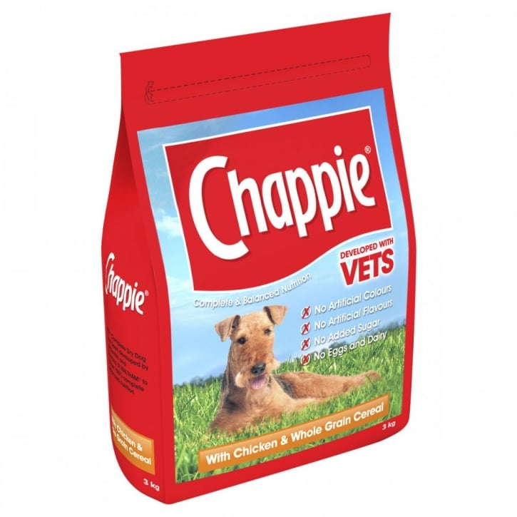 Chappie Chicken & Wholegrain Cereal Adult Dog Food 3kg