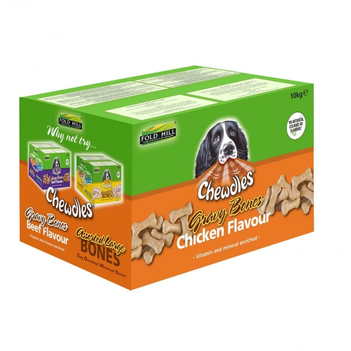 Chewdles Gravy Bones Chicken Dog Biscuits 10kg